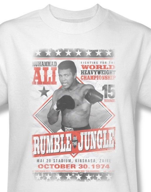 Muhammad Ali T shirt Rumble Jungle 70's boxing distressed  cotton tee Ali125