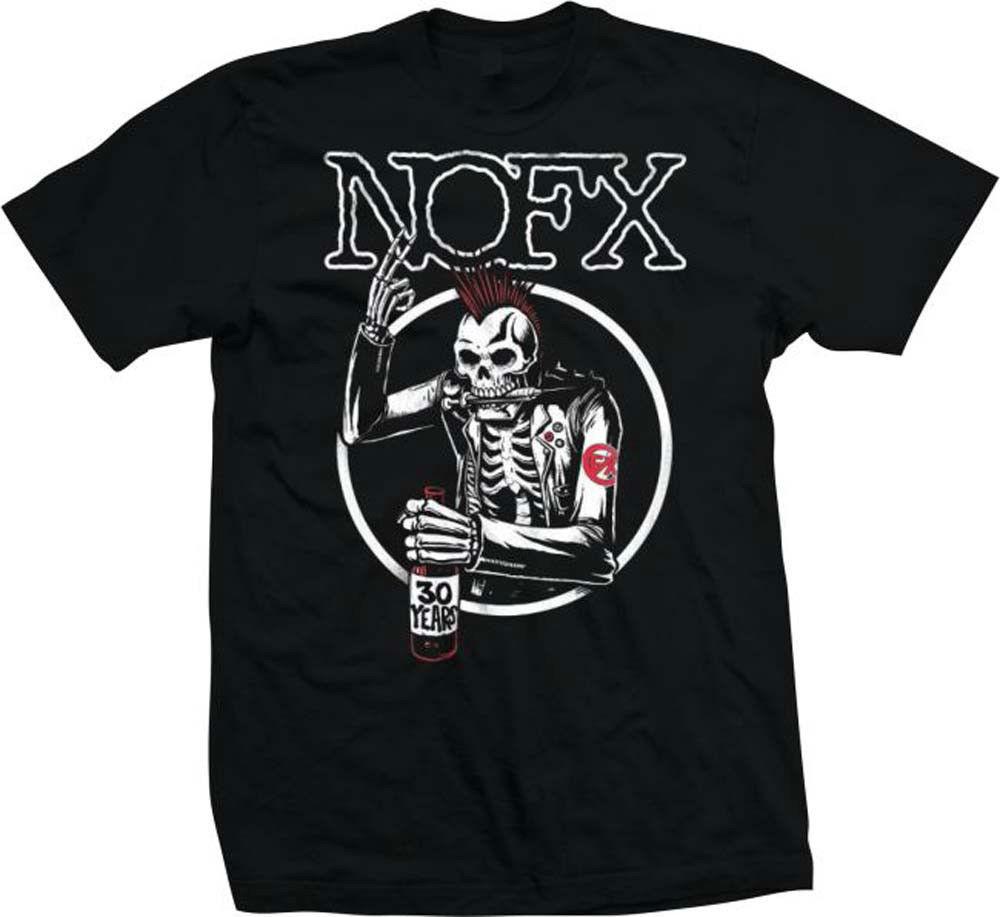 NOFX Old Skull T-Shirt Old School Punk Rock 80's 90's Skater concert tee