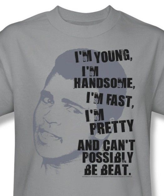 Muhammad Ali T shirt Young Fast Handsome 70's boxing graphic cotton tee Ali124