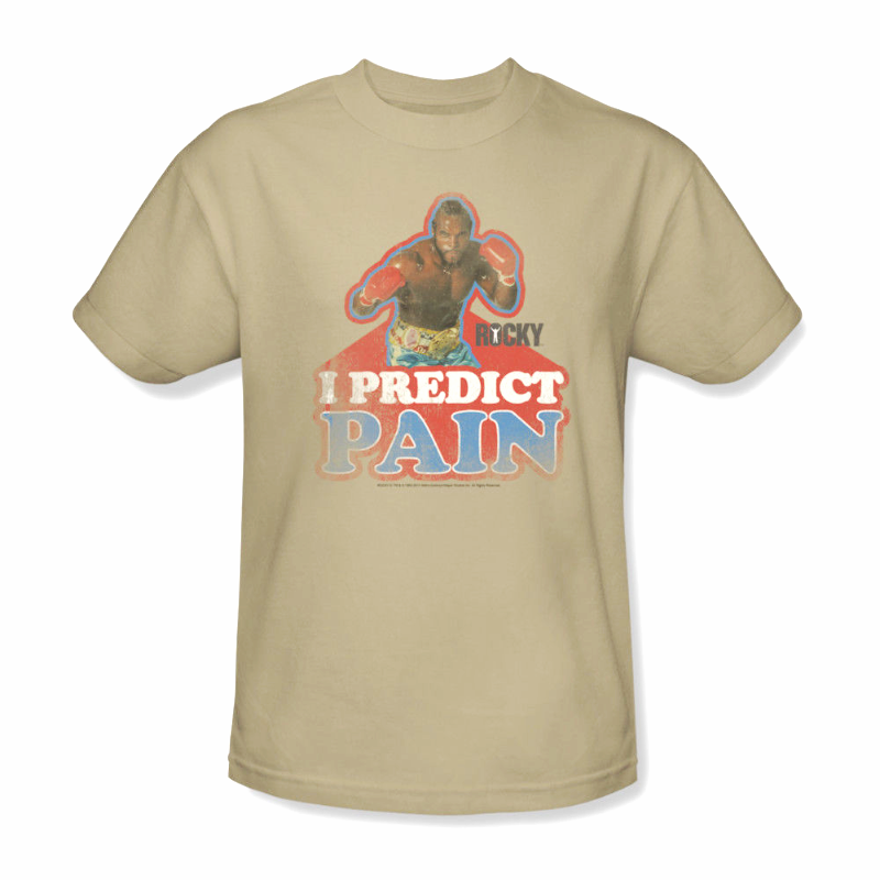 Mr. T Rocky T-shirt I predict pain clubber lang retro 80's 70's tee MGM114