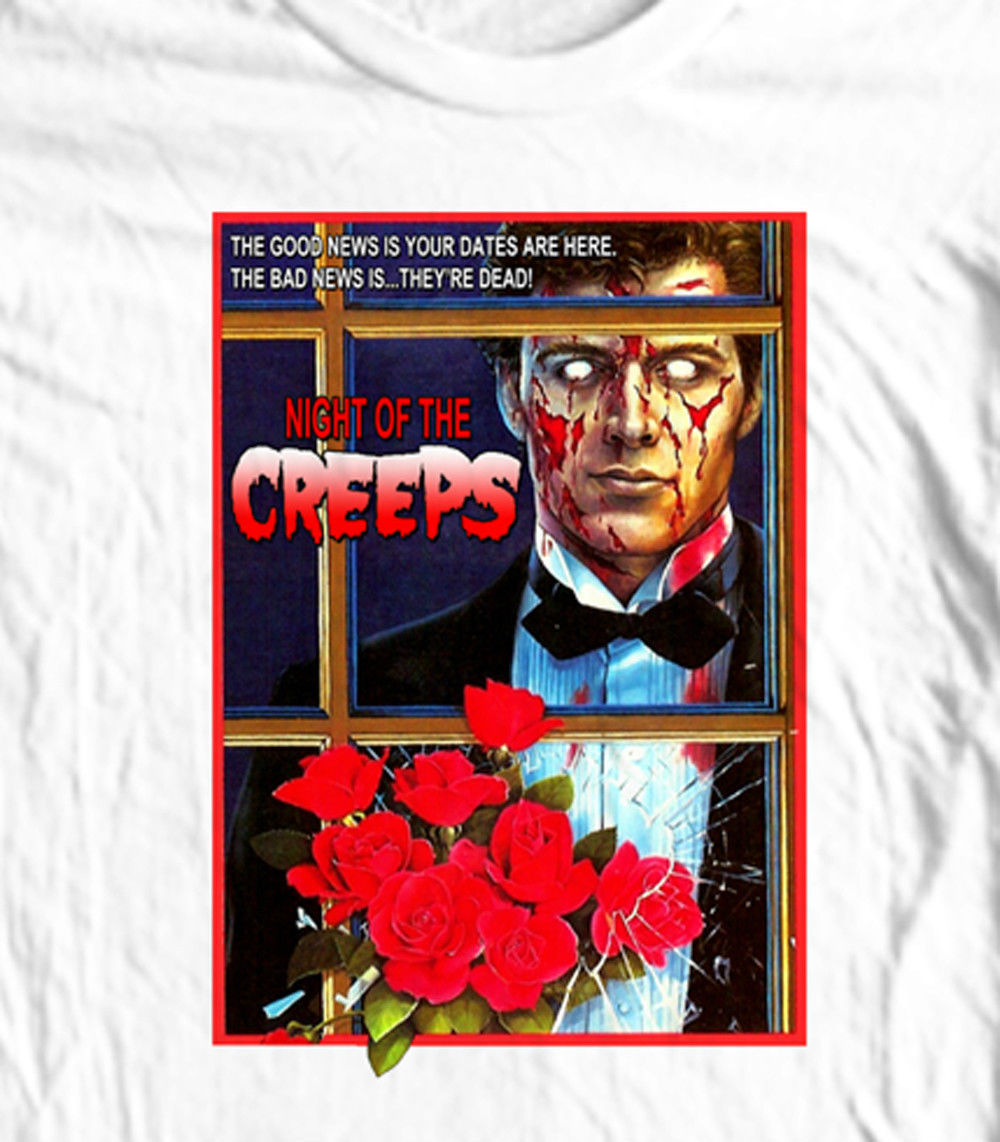 Night of the Creeps T shirt 80's Zombie horror movie slasher cotton graphic tee