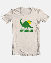 Never Forget T-shirt dinosaur retro novelty funny vintage cotton graphic tee image 3