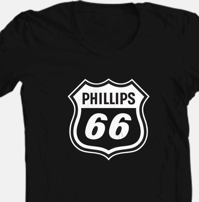 Phillips 66 T shirt cool retro black graphic cotton graphic rockabilly tee
