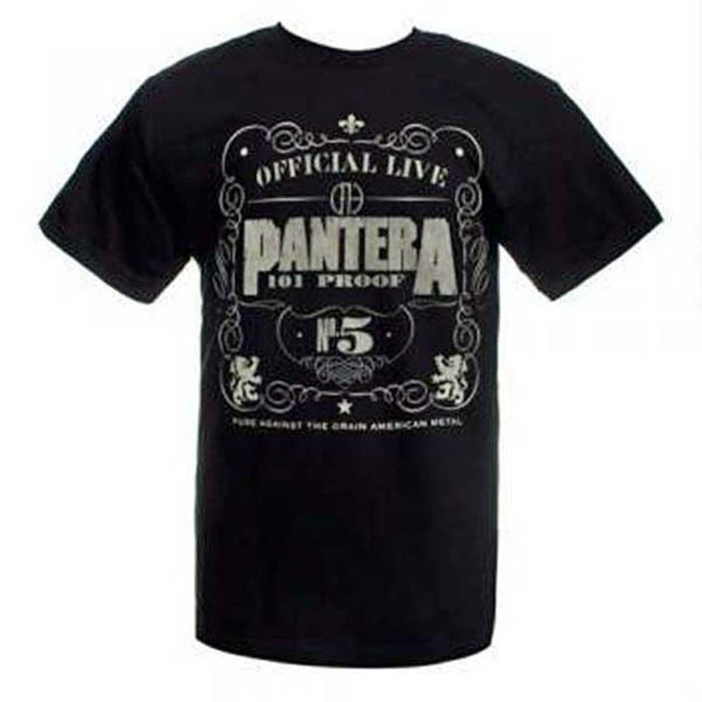 Pantera 101 Proof 30/1 T-Shirt Dimebad Darrel Retro Heavy Metal Rock concert tee