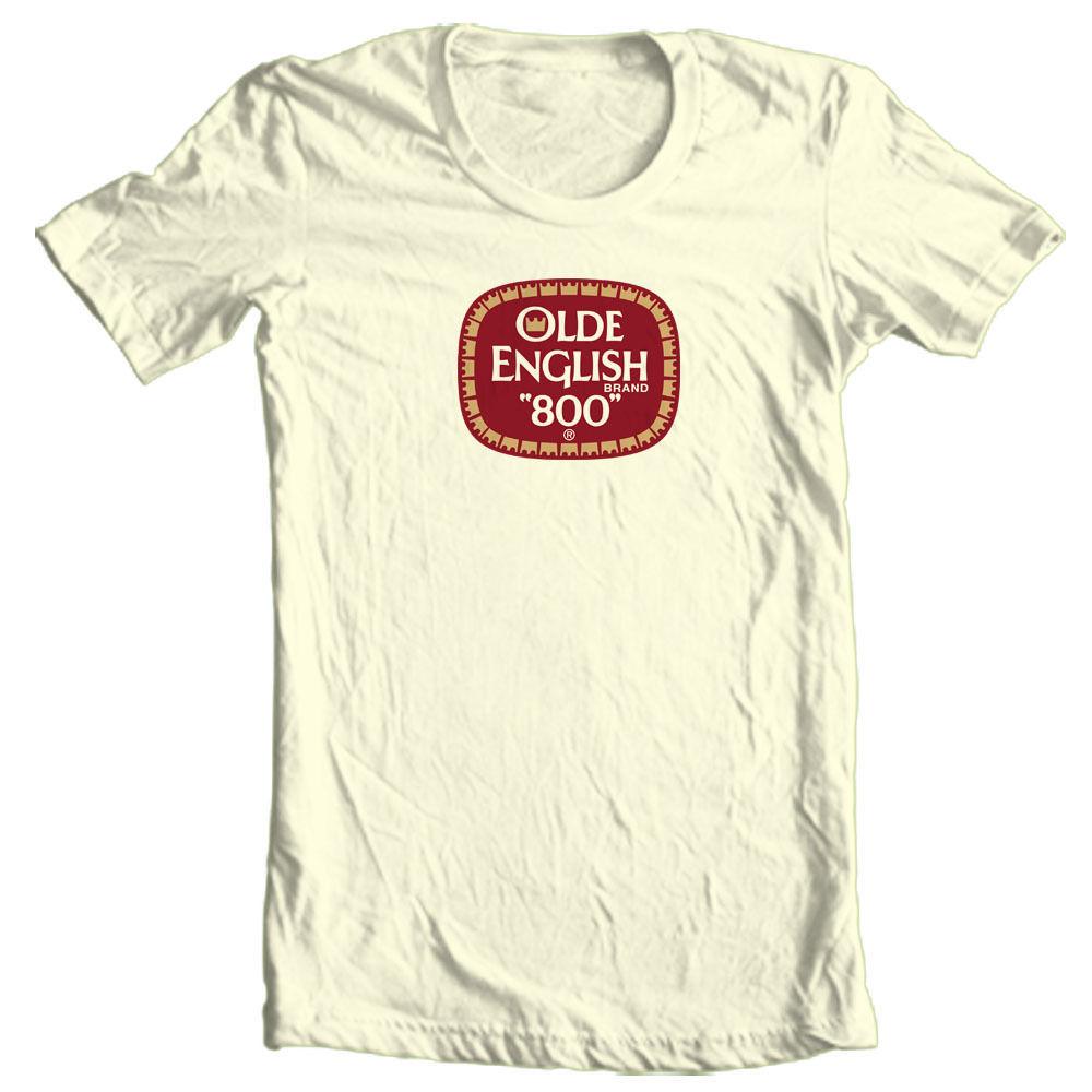 Olde English 800 T-shirt beer malt liquor cool retro Colt 45 cotton graphic tee