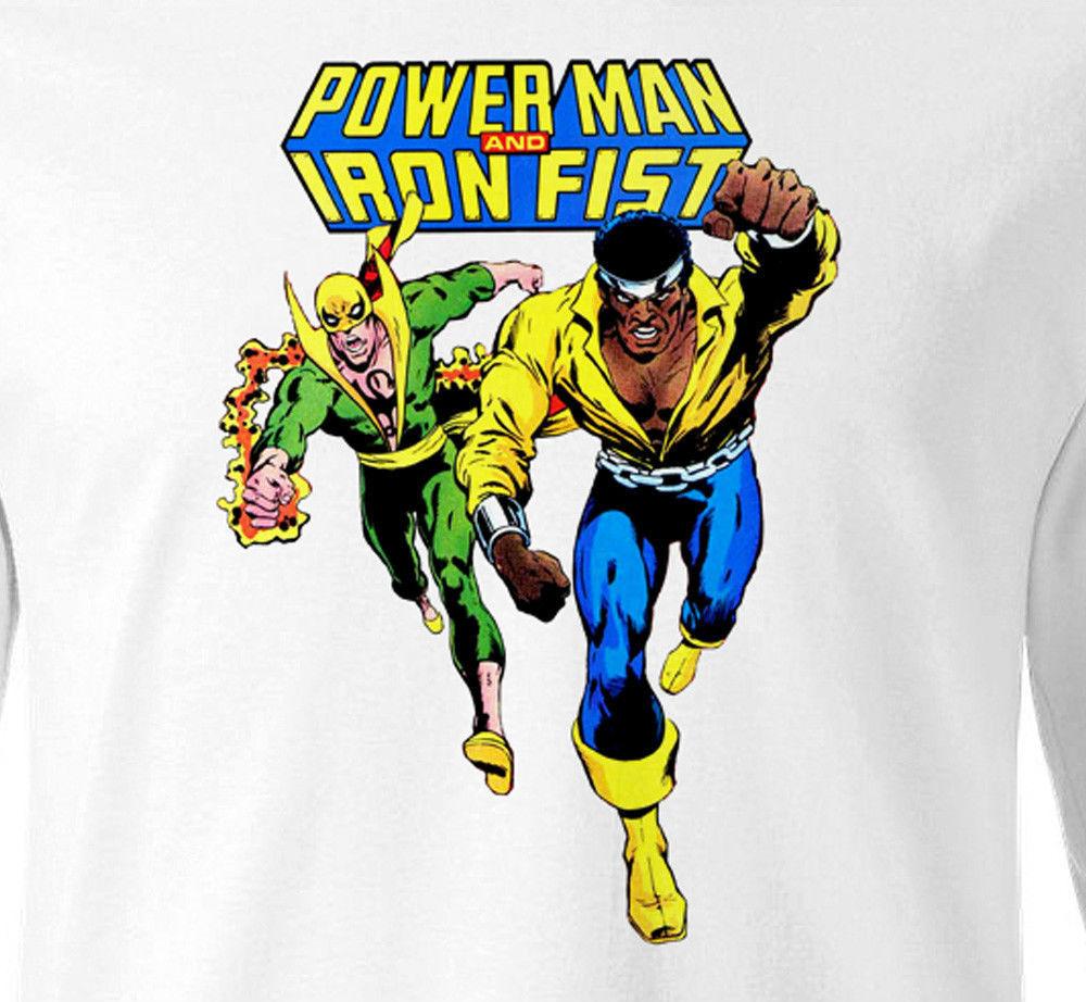 Power Man Iron Fist T shirt Marvel Comics Luke Cage cotton long sleeve tee
