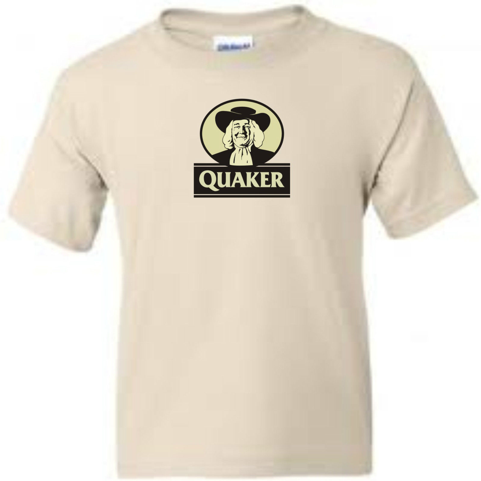 Quaker Oats T shirt retro vintage 80's brands 100% cotton graphic men's tee
