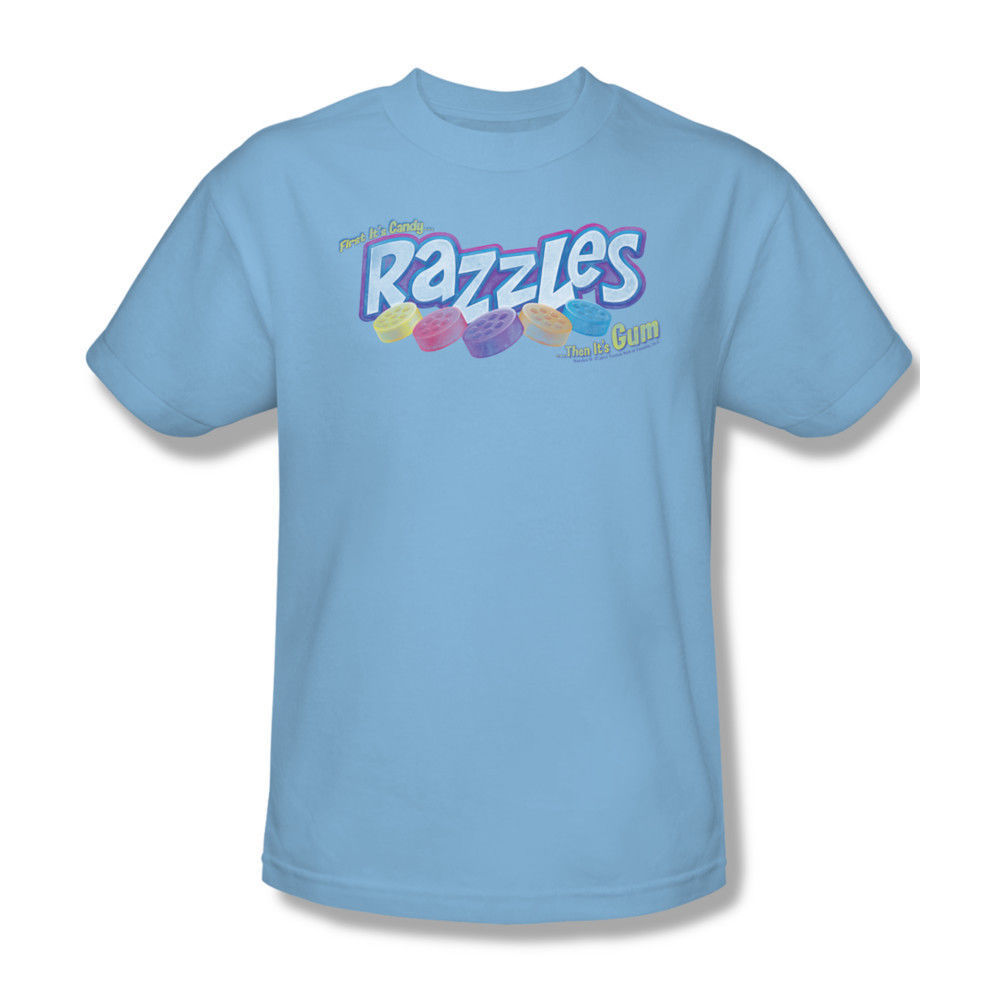 Razzles T shirt retro 80's vintage candy cotton tee blow pop Hersheys dbl140