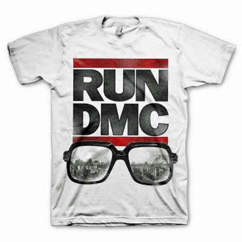 Run DMC Glasses NYC T-Shirt Retro Rap Hip Hop Break Dancing 80's Rappin'