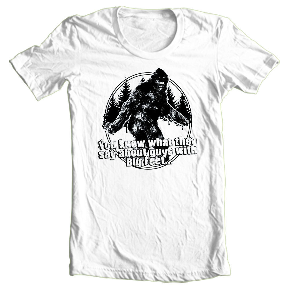 Sasquatch T-shirt Big Foot Guy's cool funny novelty graphic printed cotton tee