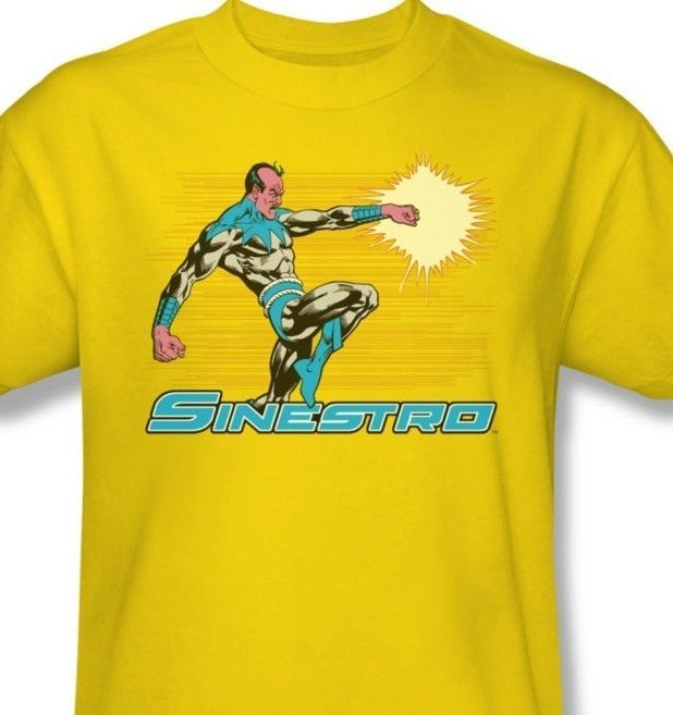 Sinestro T-shirt yellow DC comic book retro superhero cotton graphic tee dco310