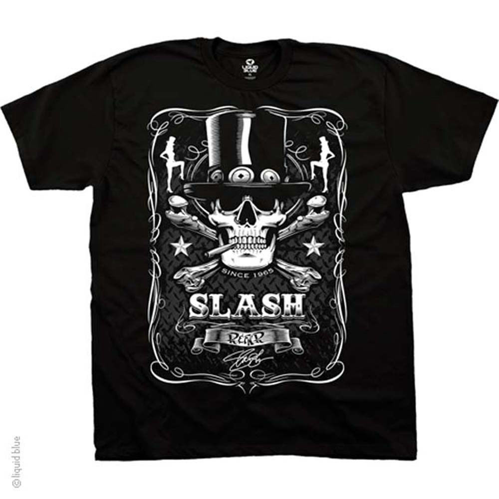 Slash Bottle of Slash black T-Shirt Guns & Roses Hard Rock Heavy Metal retro