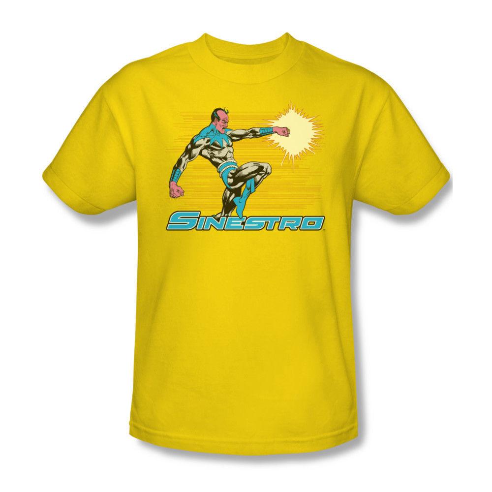 Sinestro t shirt yellow dc comic book retro superhero for Retro superhero t shirts