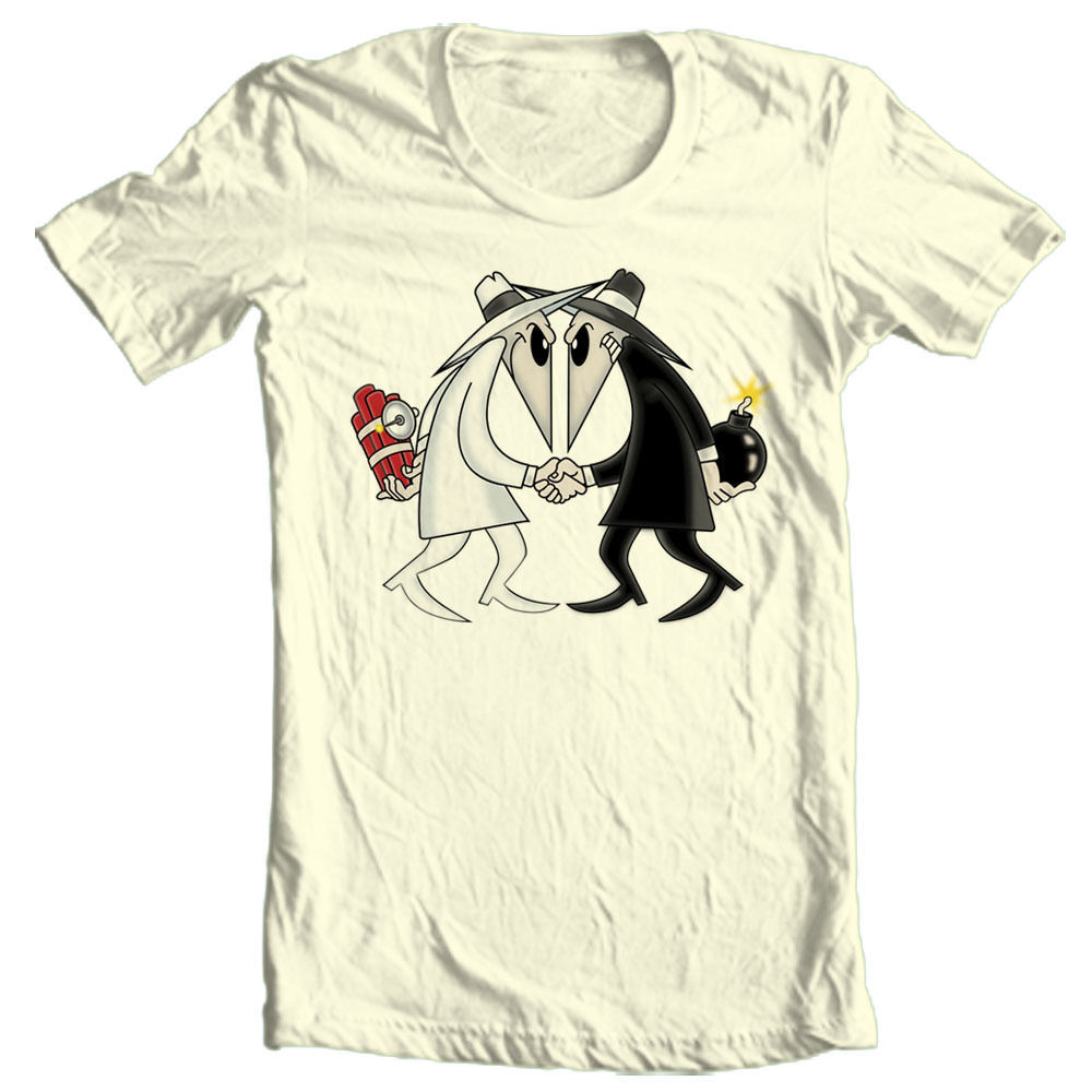 Spy vs Spy T-shirt  MAD retro 80's cool TV comics cotton graphic tee Cracked