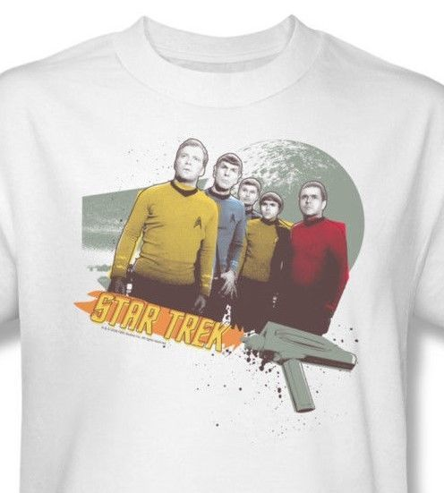 Star Trek Original Crew T shirt retro 70's sci-fi cotton graphic tee CBS351