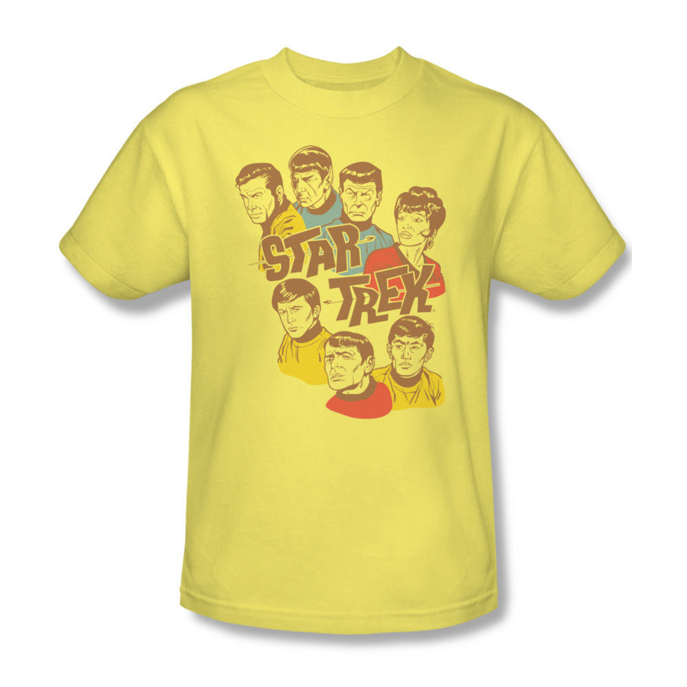 Star Trek cartoon T-shirt cool retro 70's tee Battlestar Galactica Wars cbs938