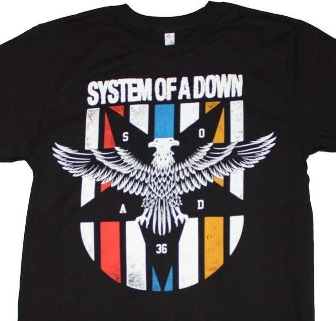System of a Down T-Shirt cool metal punk 90's rock concert cotton black tee