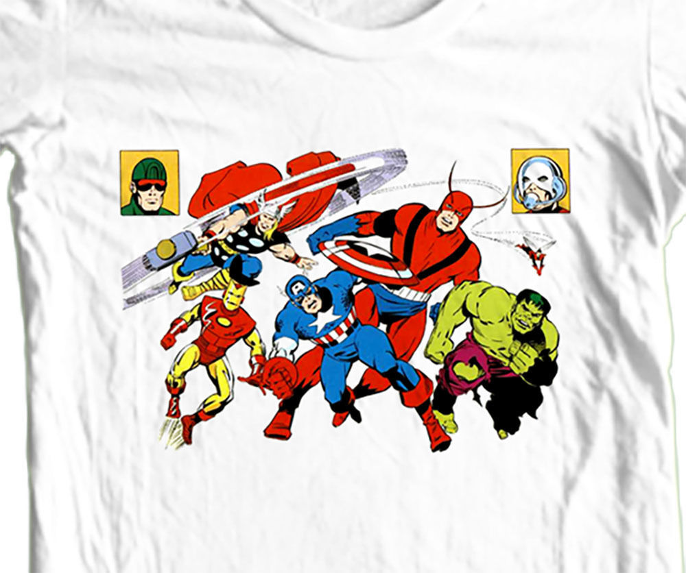 The Avengers T-shirt retro vintage 100% cotton graphic retro superhero tee
