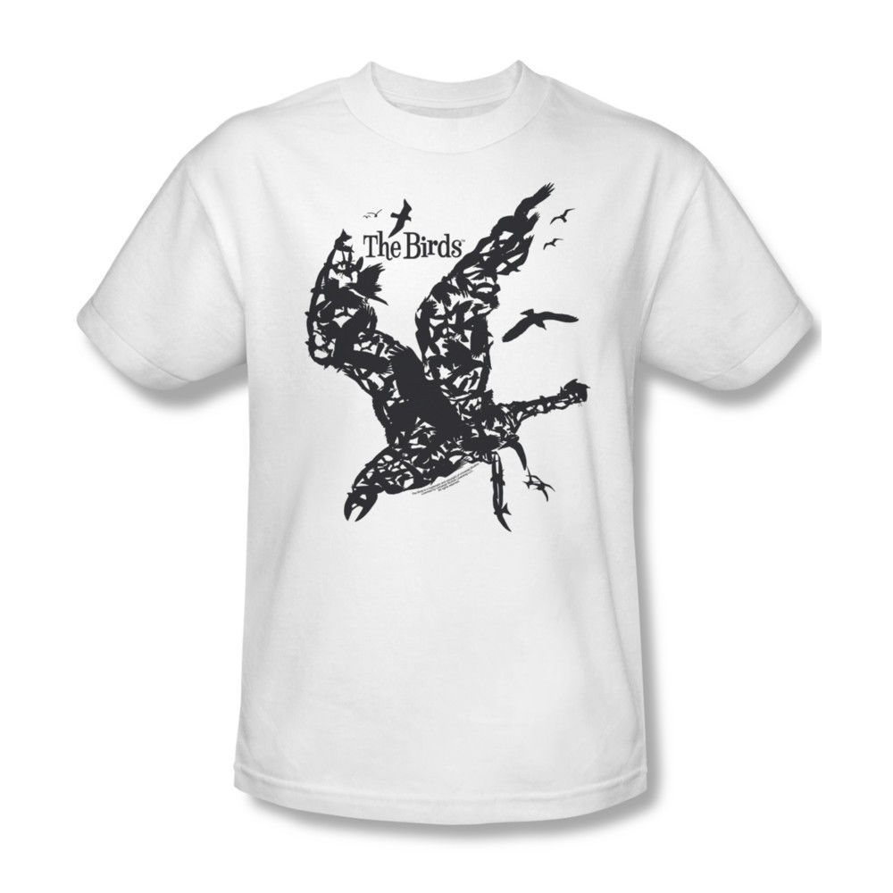 The Birds T shirt Alfred Hitchcock classic horror movie white cotton tee UNI221