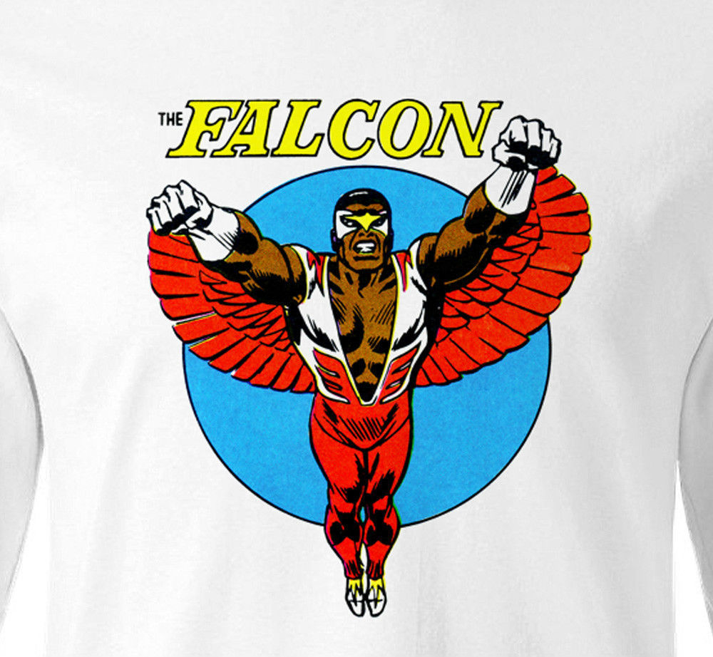 The Falcon T-shirt Long Sleeve retro Marvel comic book superheroes cotton tee