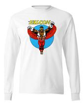 The Falcon T-shirt Long Sleeve retro Marvel comic book superheroes cotton tee image 2