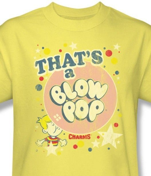 That's a Blow Pop T-shirt retro 80's candy distressed cotton graphic tee TR119