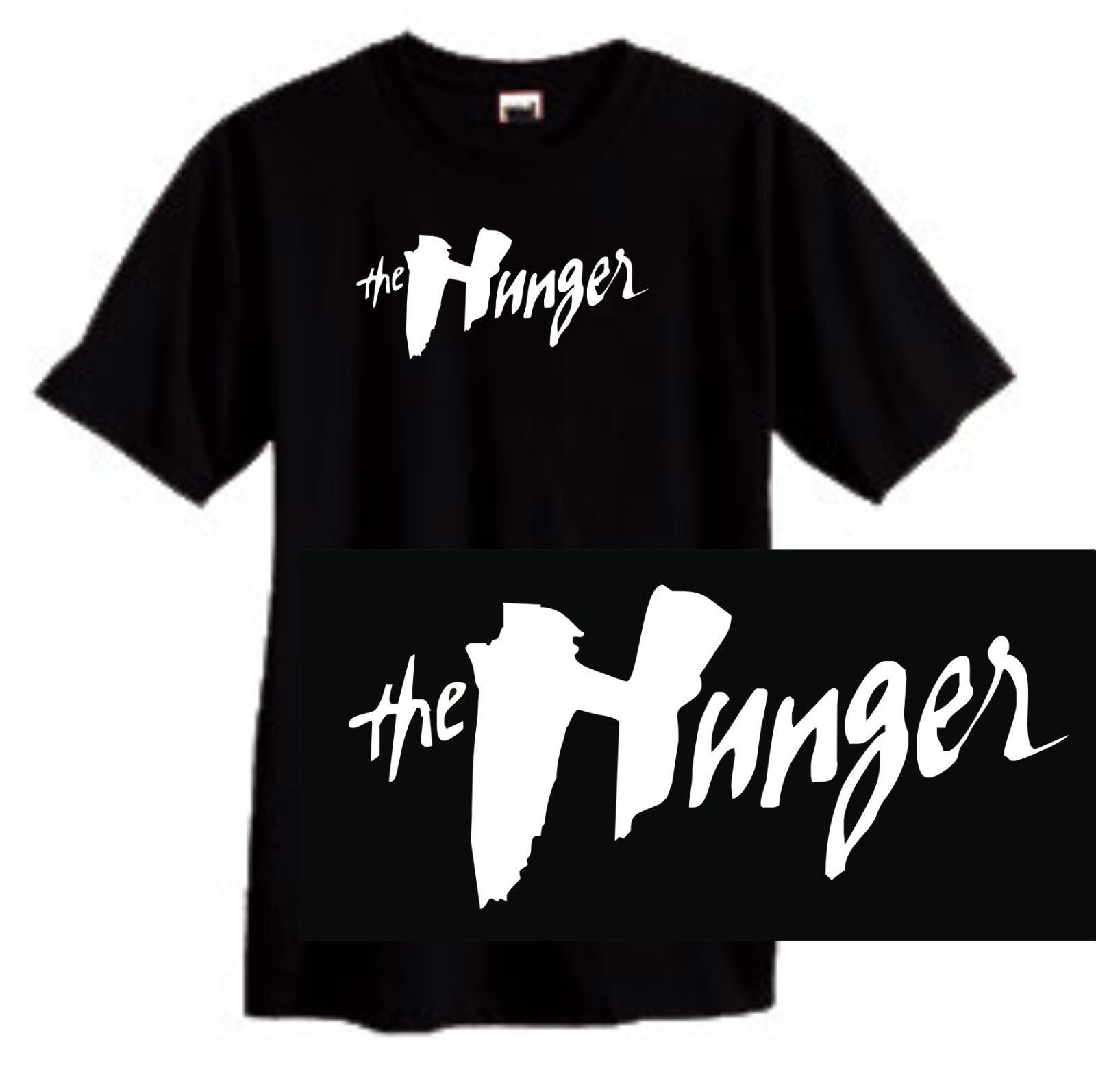The Hunger movie T-shirt gothic black cotton graphic printed tee vampire 80's