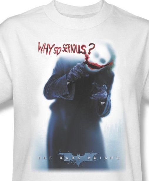 The Joker T shirt Dark Knight superhero Batman white cotton graphic tee BM1580