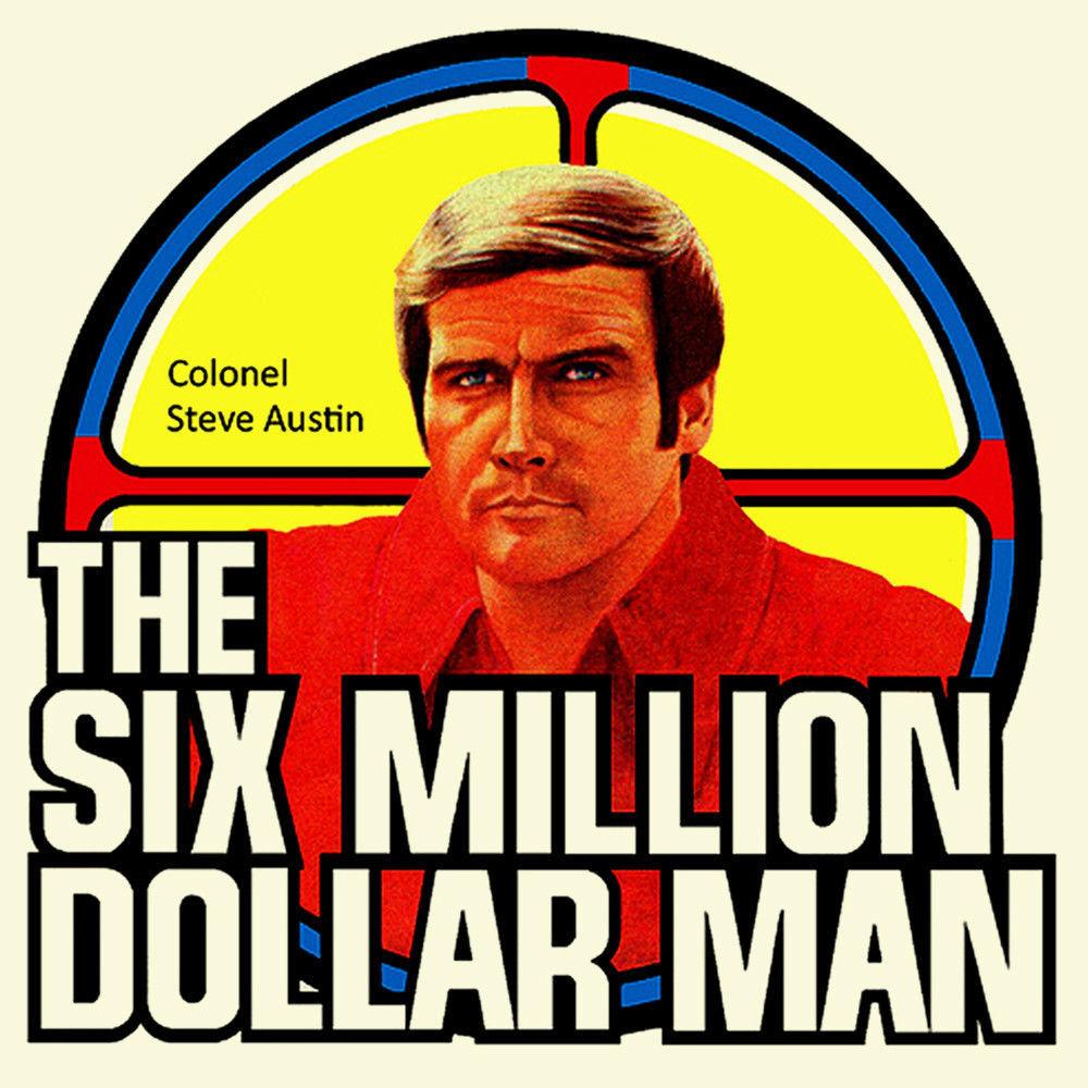 The Six Million Dollar Man t shirt Bionic Man retro 70's Steve Austin toys tee