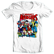 The Mighty Avengers T-shirt vintage comic book superhero 100% cotton graphic tee image 2