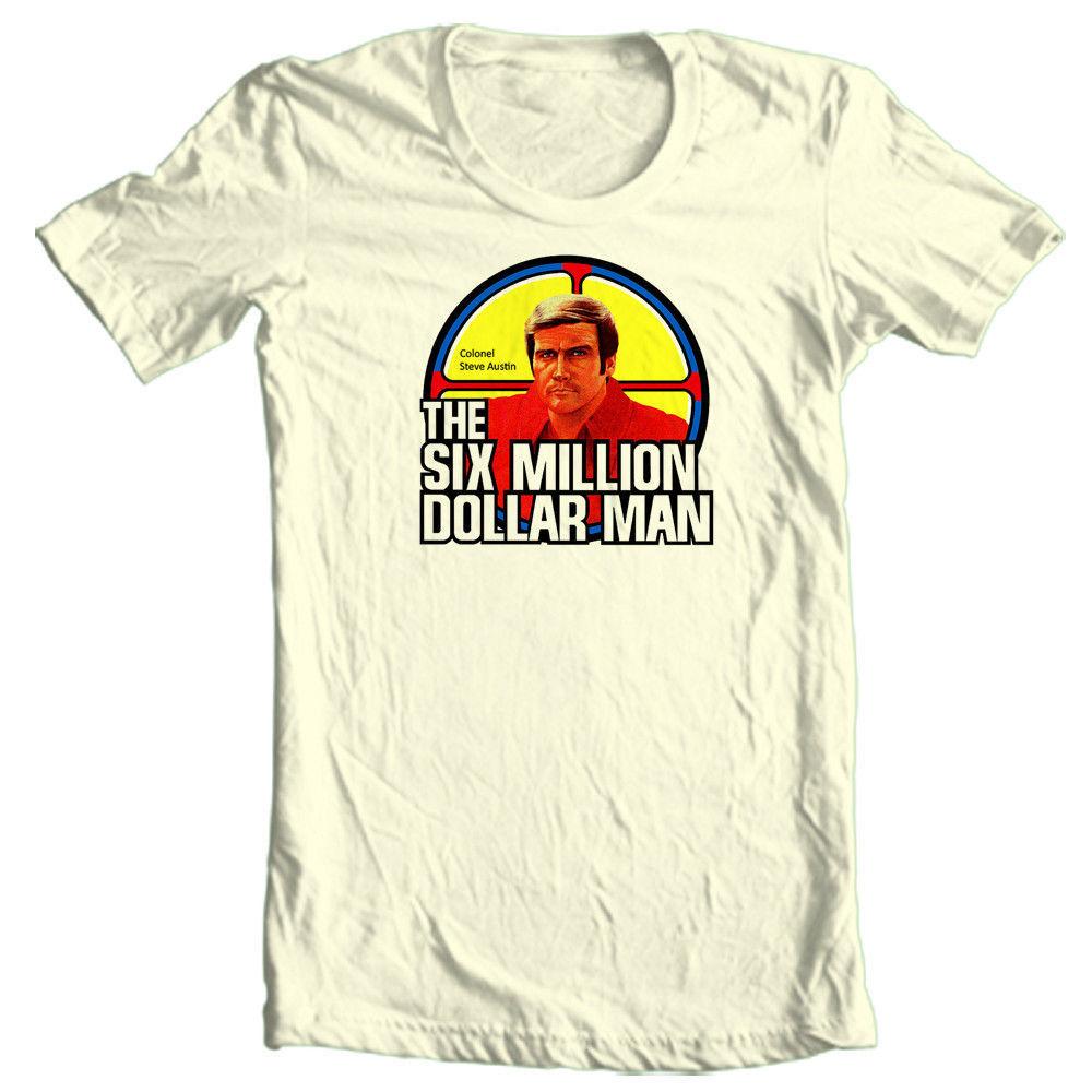 The six million dollar man t shirt bionic man retro 70 39 s for 6 dollar shirts coupon code free shipping