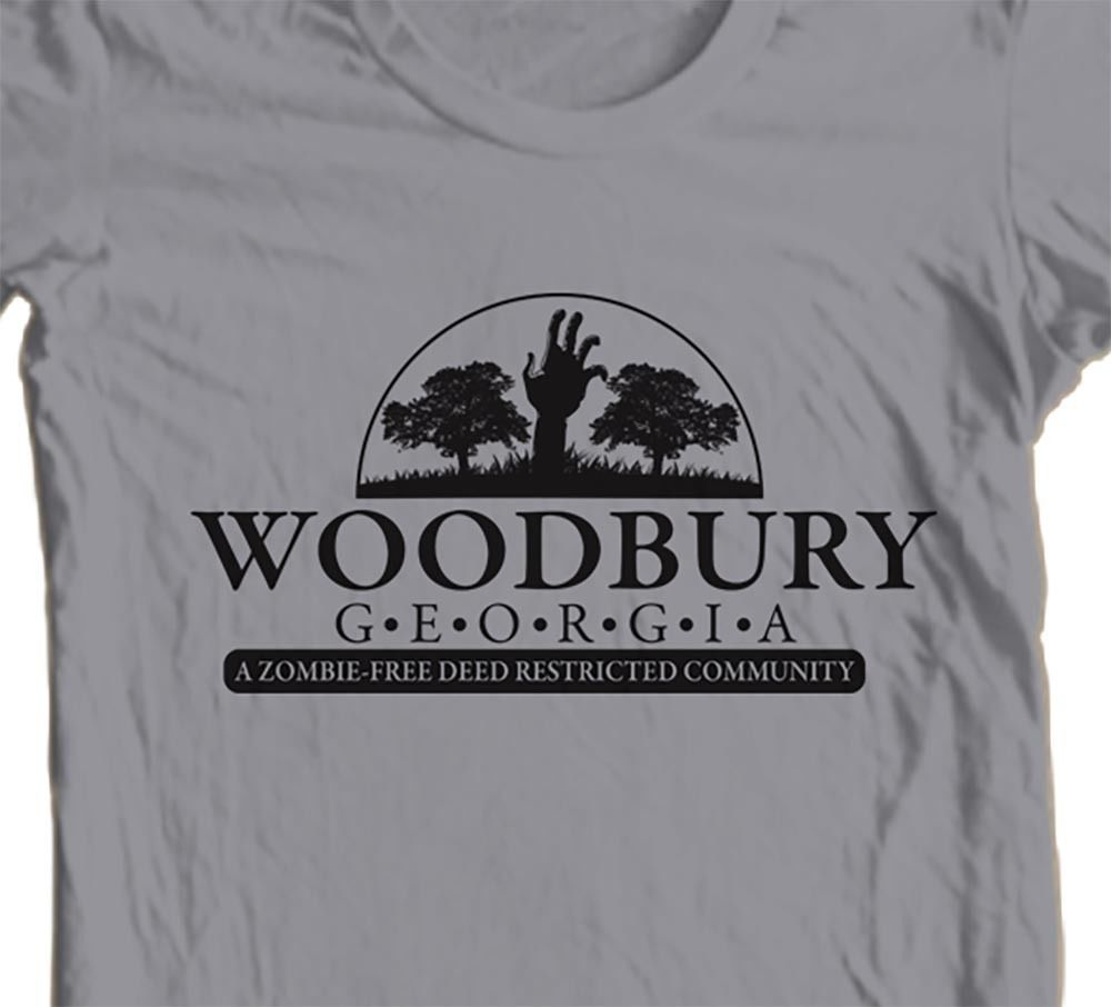 The Walking Dead Woodbury t shirt Zombie apocalypse horror movie AMC graphic tee
