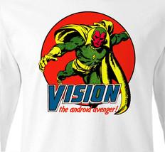 Vision Long Sleeve T shirt  Marvel Comics 100% cotton graphic tee superhero  image 2