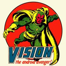 Vision Marvel Comics t shirt The Avengers Thor Captain America Hulk graphic tee image 2