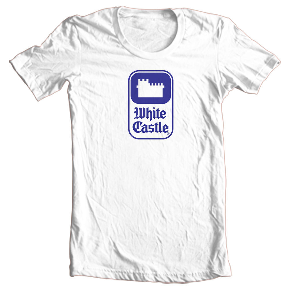 White Castle T-shirt retro fast food logo 100% cotton graphic printed white tee