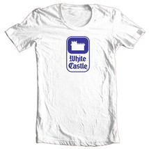 White Castle T-shirt retro fast food logo 100% cotton graphic printed white tee image 1