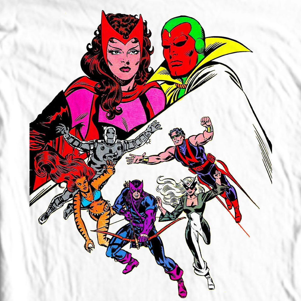 WEST COAST AVENGERS II Marvel Comics Vision Wonder Man Hawkeye S - 3XL 4XL 5XL
