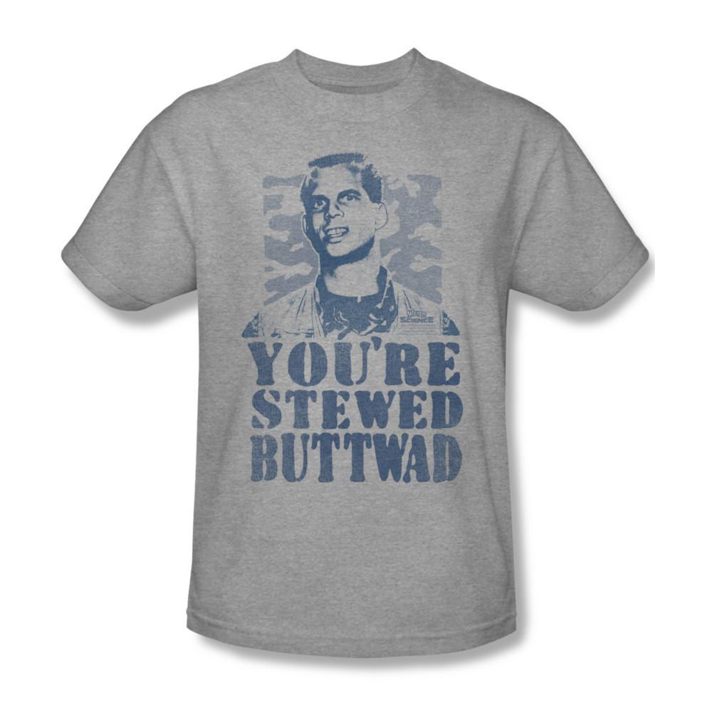 Weird Science Buttwad T-shirt retro 80's movie cotton graphic tee UNI515