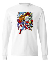 Vintage Marvel Comics T-shirt Fantastic 4 Human Torch Spidey cotton long sleeve  image 2