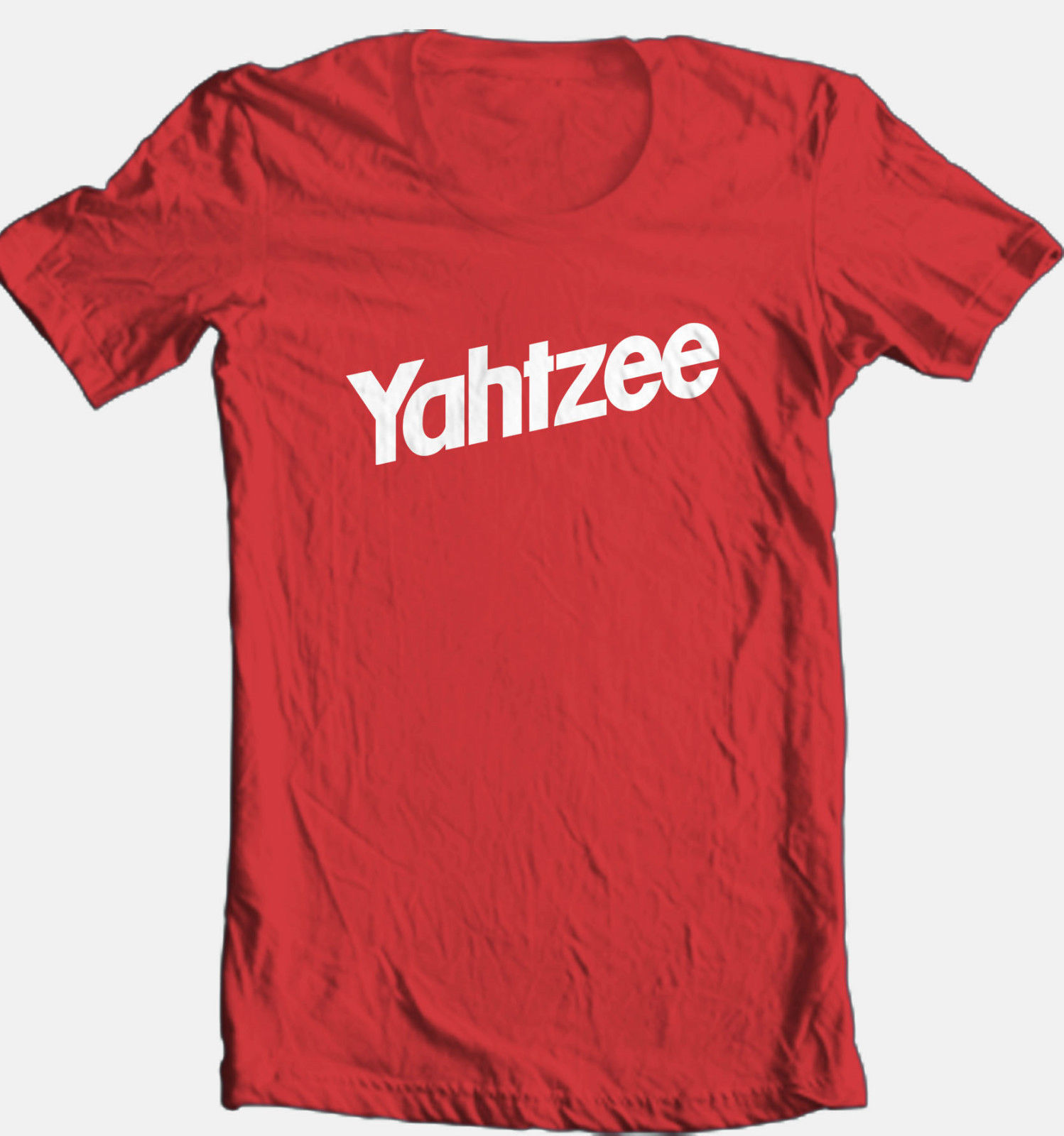 Yahtzee T-shirt cool retro funny vintage 70's 80's board game cotton graphic tee