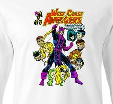 West Coast Avengers Long Sleeve T-shirt Vintage Marvel Comics 100% cotton tee image 2