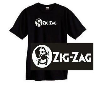 Zig Zag T-shirt retro 1970's 100% cotton black graphic tee vintage hippie shirt