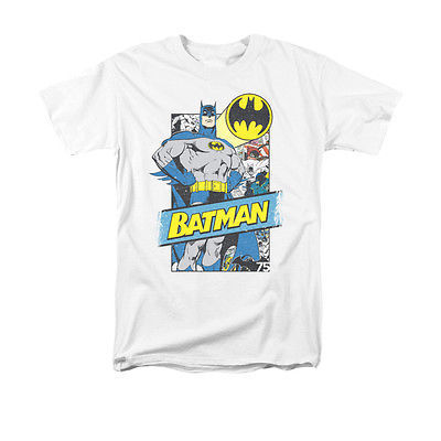 BATMAN/OUT OF THE PAGES T-SHIRT S/S ADULT 18/1-WHITE