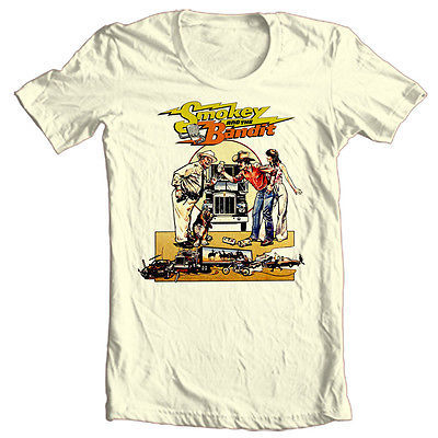 Smokey and the Bandit T shirt Trans Am retro 70 80's movie film 100% cotton tee