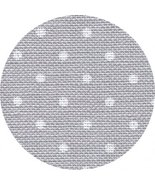 32ct Grey White Petit Point Belfast linen 36x55... - $66.60