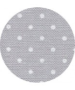 32ct Grey White Petit Point Belfast linen 13x18... - $8.35