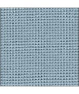 25ct Water Sapphire Lugana evenweave 13x18 cross stitch fabric Zweigart - $6.10