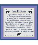 Paws For Thoughts Cats cross stitch chart Stitchers Anon Designs - $9.00