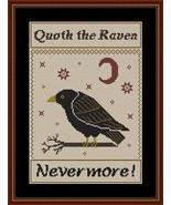 Quoth The Raven Nevermore cross stitch chart Stitchers Anon Designs - $10.80
