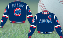 JH Design MLB Chicago Cubs Twill Jacket - $109.95